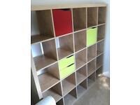 IKEA Kallax 5x5 shelf unit + cupboard & 2 drawer inserts