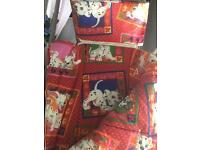 Child's patterned sleeping bag
