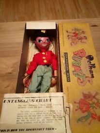 Vintage pelham puppet ss fritzi in box 1950s