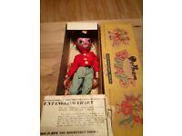 Vintage pelham puppet ss fritzi in box 1950s