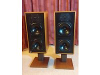 B&W DM14 Loudspeakers with stands