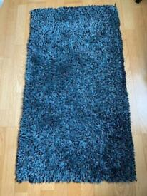 Modern Teal Rug With Some Grey/black Threads. 60X100cm. Excellent Condition.