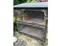 ge Two Tier Solid Rabbit Hutch / Hen House