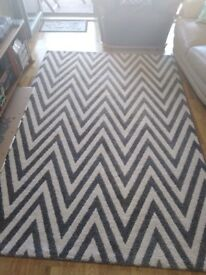 Beautiful Chevron Rug (almost new)