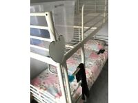 Ikea white metal bunk beds