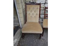 Antique very good condition Chaise Longue with four matching chairs