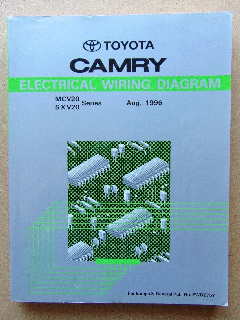 GENUINE TOYOTA CAMRY REPAIR MANUALS (Printed Aug 96) Chassis/Body & Electrical (MCV20, SXV20 series)