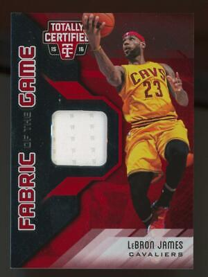2015 Panini Totally Certifed Fabric Of The Game LeBron James 101/199 Jersey
