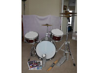 3 Piece Junior Drum Kit (with extra Symbol) - Performance Percussion PP