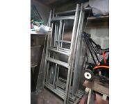 Lightweight box section scaffold tower