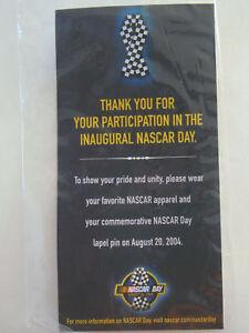 NASCAR DAY PIN 2004 COLLECTIBLE PIN INAUGURAL  NEW HAT PIN RACING SOUVENIR