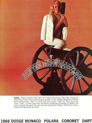1966 Dodge Monaco Polara Coronet Dart FL Dealer Sales Brochure