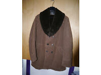 Excellent condition vintage ladies faux fur/suede coat around 16