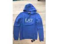emporio armani EA7 hoodie blue jumper long sleeve size medium large sweatshirt joblot 2017 new