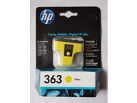 BRAND NEW SEALED. GENUINE HP PHOTOSMART 363 YELLOW INK CARTRIDGE