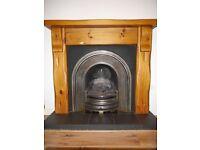 Rustic Pine fireplace surround