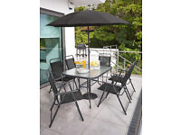 **REDUCED** Santa Cruz Garden Patio Dining Set inc 6 Foldable Chairs - Not Rattan