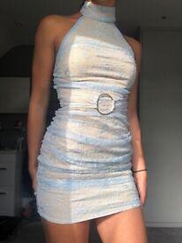 PRETTY LITTLE THING Dress - Light Blue size 4
