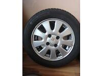 195 60 15 tyre and mitsubishi rim