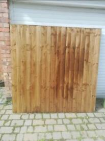 6 ft x 6ft feather edge fence panels