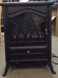 Dunelm Small Black Stove Effect Heater 1850W