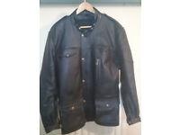 vintage custom leather motorcycle jacket (not belstaff)