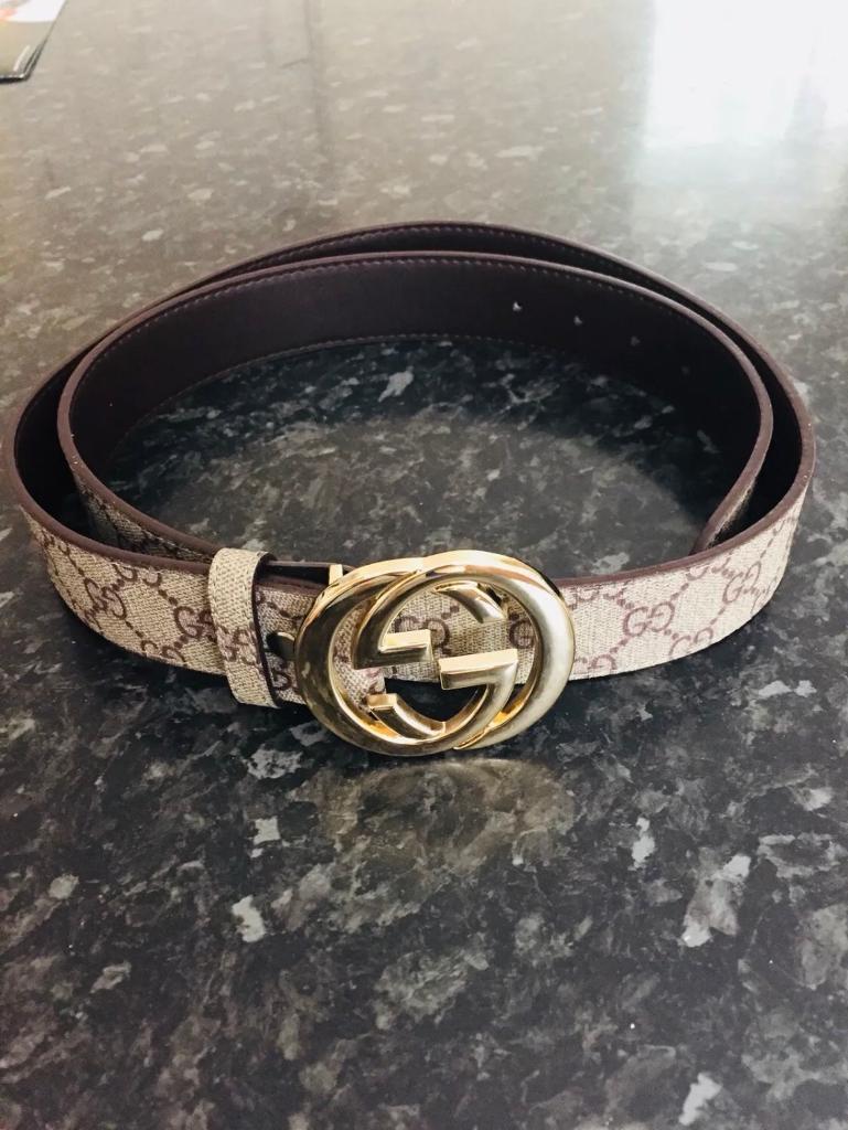 802740cb559 Gucci beige belt
