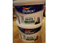 NEW UNOPENED - TWO - Dulux Pure Brilliant White Silk paint 20L £30
