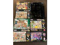 6x 'wasgij?' Jigsaw puzzles, excellent condition