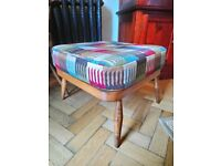 Ercol Evergreen 205 Footstool Foot Stool in Golden Dawn w/ New Cushion/Upholstery