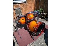 Pearl Masters Studio Birch BRX 4 piece drum kit (shell pack only) in sunburst fade
