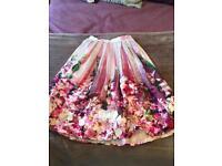 Never worn Elsie's Attic floral skirt