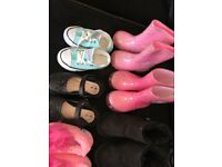Girls cloths and shoes bundle aged 1-2years over 30 items