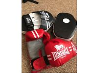 Lonsdale junior boxing mitts and pads