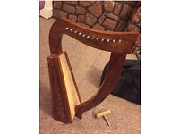 Harp 12 strings Celtic Rosewood with carry bag