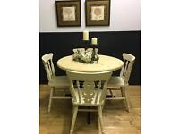 BEAUTIFUL SOLID PINE FARMHOUSE TABLE CHAIRS