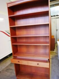 TEAK BOOKCASE WITH DRAWER