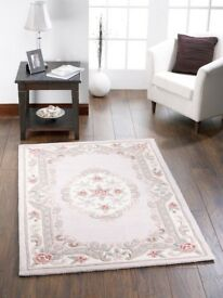 Brand new in package Origin Shensi Traditional 100% Wool Rug 60 X 120 cms Beige RRP £49.99