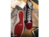 Mens women's trainers/ Christian louboutin/GZ/Red bottom/spikes/crystals