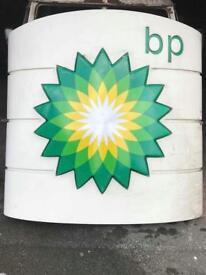 BP Petrol Forecourt Sign
