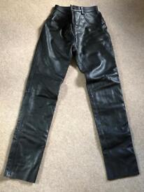 Belstaff ladies leather motorcycle jeans UK size 10