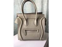 Handbag leather