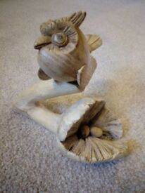 driftwood wooden owl