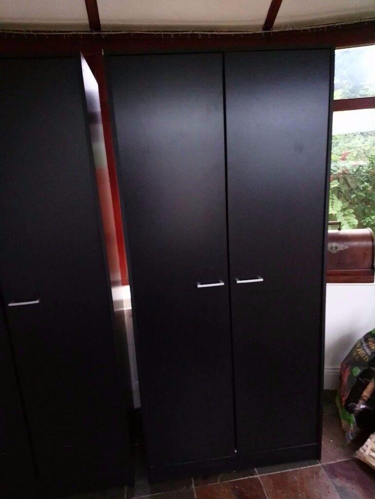 Matching Black Wardrobes & Drawers