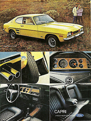 1972 Lincoln-Mercury CAPRI Ad / Advertisement: YELLOW