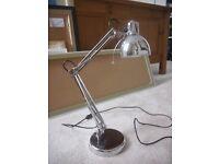 Silver/Chrome Anglepoise Desk Lamp/ Light