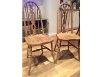 Antique Vintage Kitchen Dinning Room Chairs