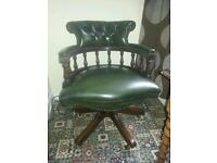 Chesterfield captains chair.