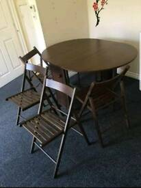 Brown Oval Butterfly Dining Table