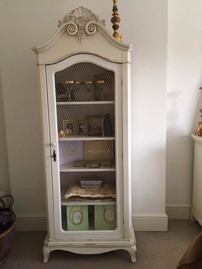 Stunning Laura Ashley Shabby Chic Armoire Display Cabinet Wardrobe ...